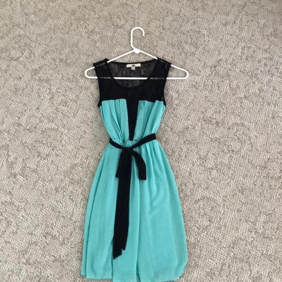 Ya Los Angeles Dresses   All Occasion Black Lace And Teal Party ...